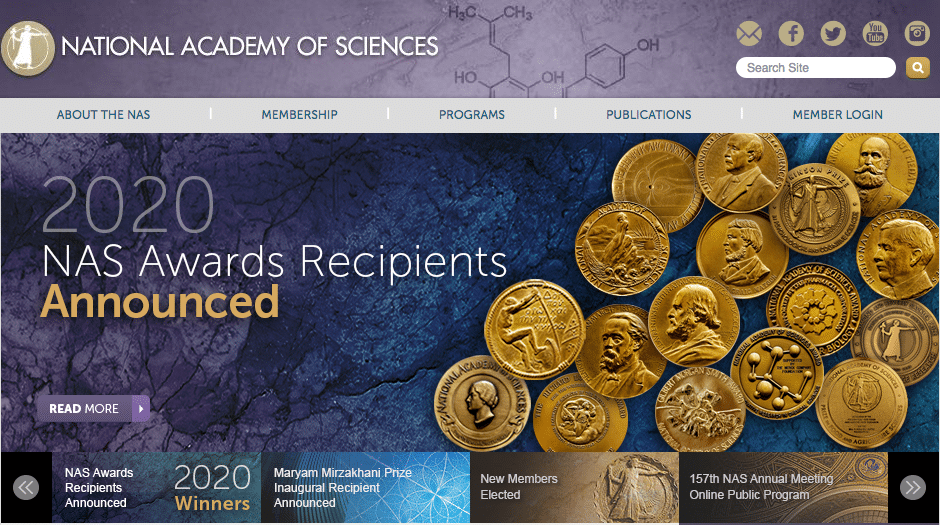 The National Academy of Sciences elected Tony as new member