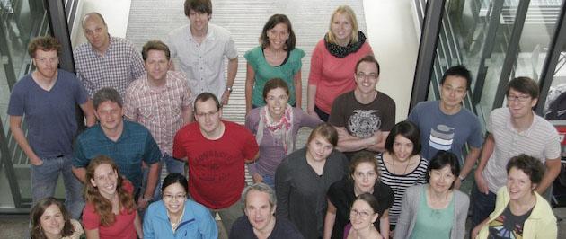 Group photo at MPI entrance