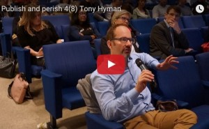 """""""Encouraging innovation through peer review and evaluation"""", Tony's lecture at the """"Publish and Perish?"""" seminar in Stockholm."""