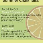 Chalk Talk announcement - Patrick and Samir - August 2020